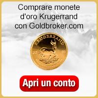 Comprare monete d'oro South African Gold Krugerrand con Goldbroker.com
