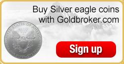 Buy American Silver Eagle coins with Goldbroker.com