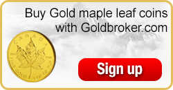 Buy Canadian Gold Maple Leaf coins with Goldbroker.com