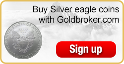 Buy American Silver Eagle coins with Goldbroker.com