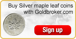 Buy Canadian Silver Maple Leaf coins with Goldbroker.com