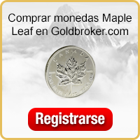 Comprar monedas  de plata Canadian Silver Maple Leaf en Goldbroker.com