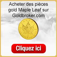 Acheter des pièce d'or Gold Maple Leaf sur Goldbroker.com