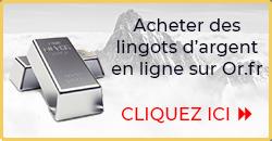 Acheter des lingots d'argent - Or.fr
