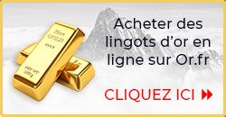 Acheter des lingots d'or - Or.fr