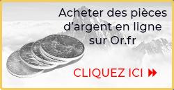 Acheter des pièces d'argent - Or.fr