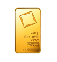 250 grams  Gold Bar - Valcambi