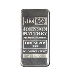 10 ounces  Silver Bar - NTR Metals