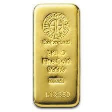 1 kilogram  Gold Bar - Argor-Heraeus