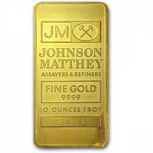10 ounces  Gold Bar - Johnson Matthey