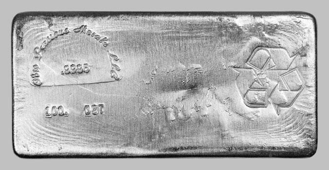 100 ounces  Silver Bar - Ohio Precious Metals