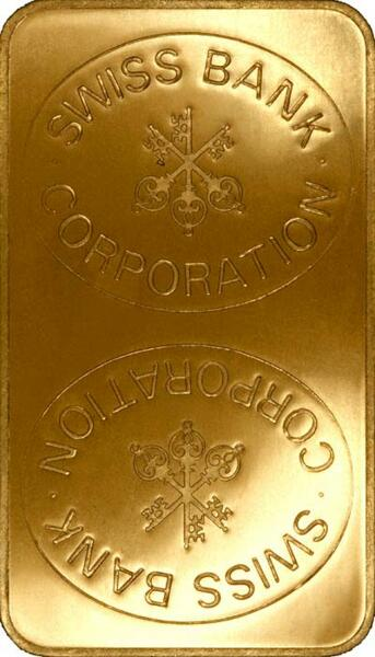 1 kilogram  Gold Bar - Swiss Bank Corporation