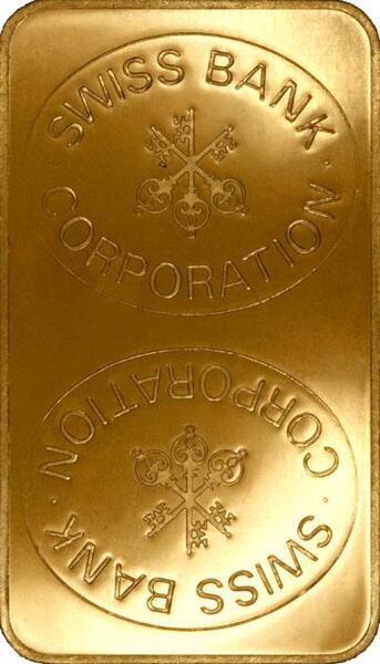 Lingote de Oro  1 kilogramo - Swiss Bank Corporation