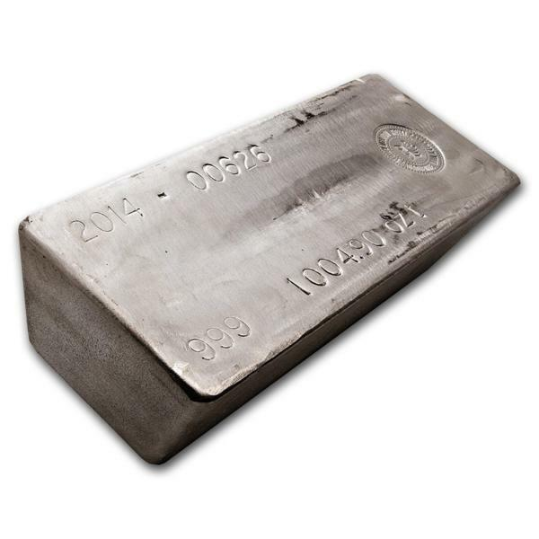 1000 ounces  Silver Bar - AGR Matthey