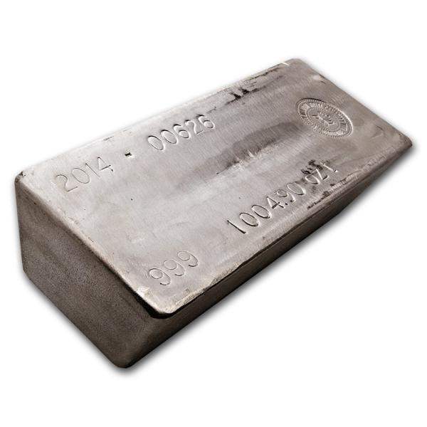Lingote de Plata  1000 onzas - AGR Matthey