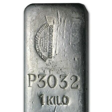 1000 ounces  Silver Bar - Mocatta & Goldsmid Ltd