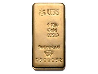 Lingote de Oro  1 kilogramo - UBS
