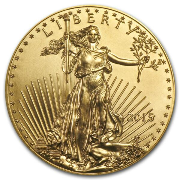 1 ounce Gold American Eagle - Roll of 10 - 2015 - US Mint