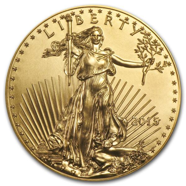 Moneta d'oro American Eagle 1 oncia - Rotolo di 10 - 2015 - US Mint