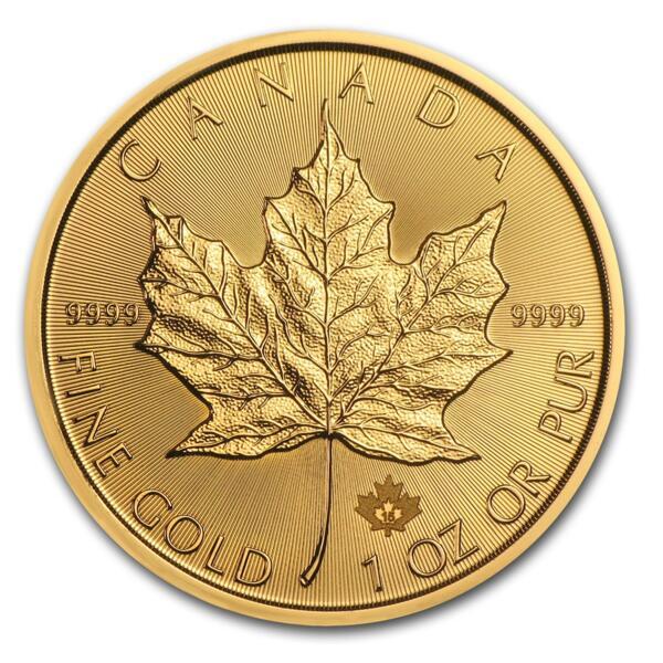 Moneta d'oro Maple Leaf 1 oncia - Rotolo di 10 - 2015 - Royal Canadian Mint