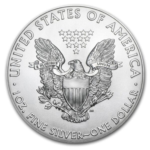 Moneta d'argento American Eagle 1 oncia - Monsterbox di 500 - 2014 - US Mint