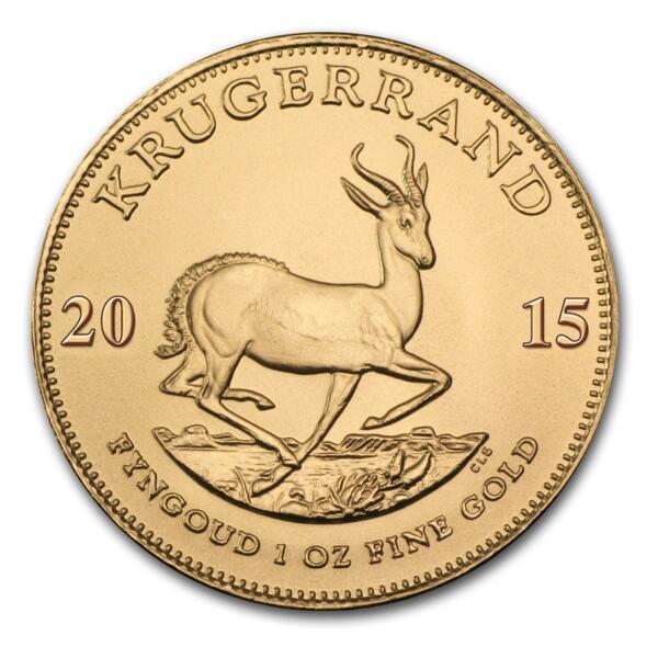 Moneda de Oro Krugerrand 1 onza - Tubo de 10 - Mixed years - South African Mint