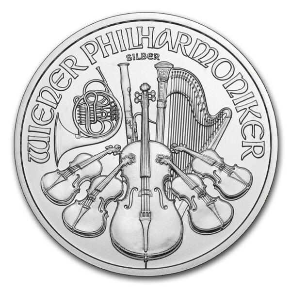 Moneta d'argento Philarmonic 1 oncia - Monsterbox di 500 - 2014 - Austrian Mint