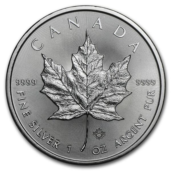 Moneta d'argento Maple Leaf 1 oncia - Monsterbox di 500 - Mixed years - Royal Canadian Mint