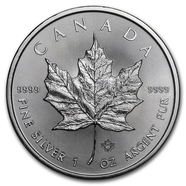Moneda de Plata Maple Leaf 1 onza - Monsterbox de 500 - Mixed years - Royal Canadian Mint