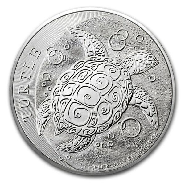 2 ounces Silver Hawksbill Turtle - Monster box of 200 - 2016 - New Zealand Mint