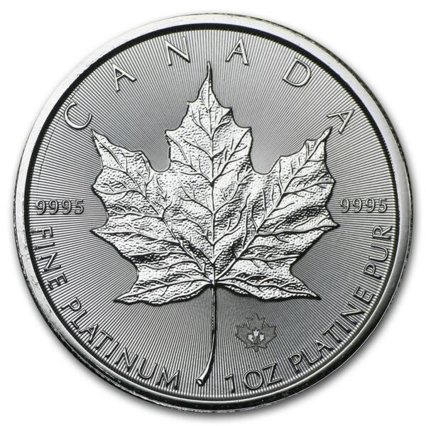 1 ounce Platinum Maple Leaf - Roll of 10 - 2016 - Royal Canadian Mint