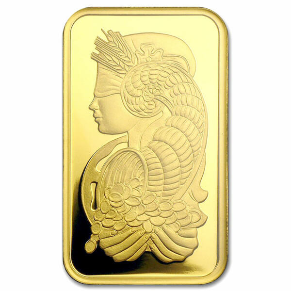 1 ounce PAMP Lady Fortuna (Veriscan) Gold Bar - PAMP