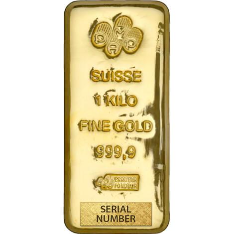 1 kilogram Cast Gold Bar - PAMP