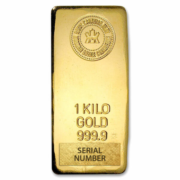 1 kilogram  Gold Bar - Royal Canadian Mint