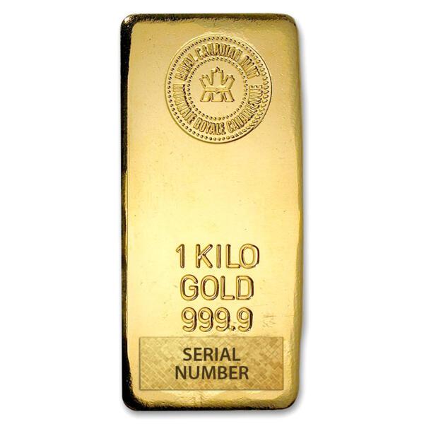 1 kilogram  Gold Bar - Royal Canadian Mint