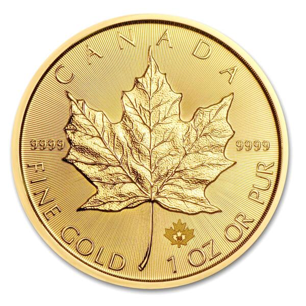 Moneta d'oro Maple Leaf 1 oncia - Royal Canadian Mint