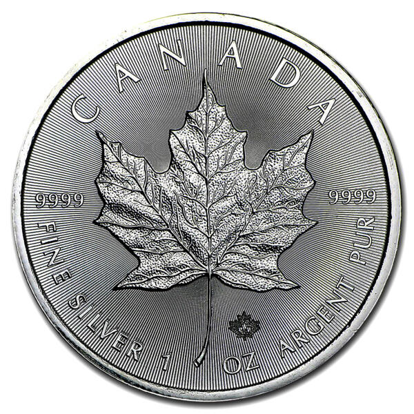 1 ounce Silver Maple Leaf - Royal Canadian Mint