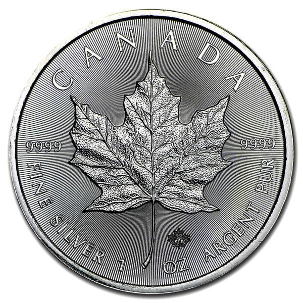 Moneta d'argento Maple Leaf 1 oncia - Royal Canadian Mint