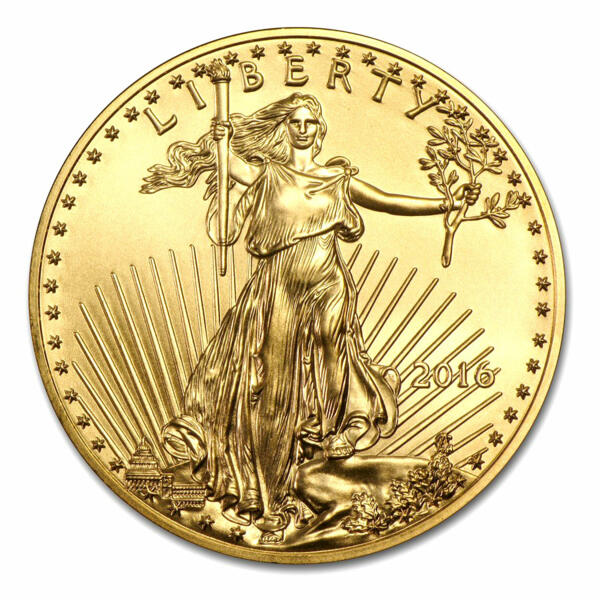 Moneta d'oro American Eagle 1 oncia - Rotolo di 10 - 2016 - US Mint
