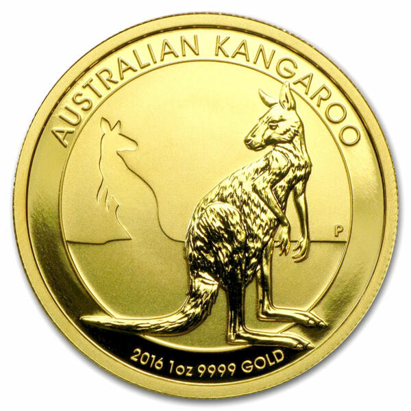 1 ounce Gold Kangaroo - Roll of 10 - 2016 - Perth Mint