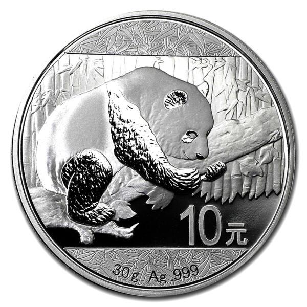 30 grams Silver Panda - Monster box of 450 - 2016 - People's Bank of China