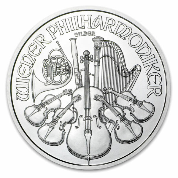 Moneta d'argento Philarmonic 1 oncia - Monsterbox di 500 - 2015 - Austrian Mint
