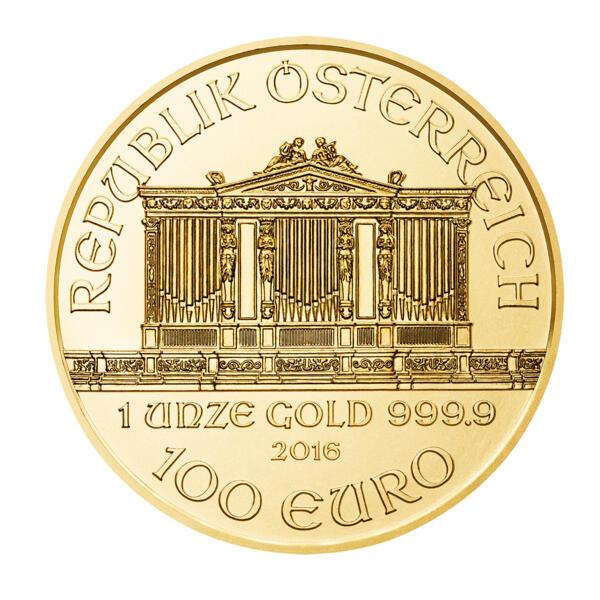 1 ounce Gold Philharmonic - Roll of 10 - 2016 - Austrian Mint
