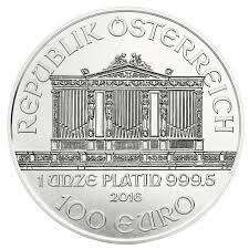 1 ounce Platinum Philharmonic - Roll of 10 - 2016 - Austrian Mint
