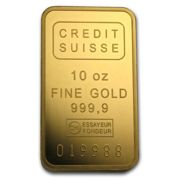 10 ounces  Gold Bar - Crédit Suisse