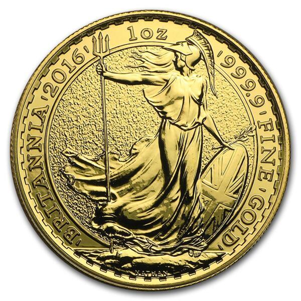 1 ounce Gold Britannia - Roll of 10 - 2016 - British Royal Mint