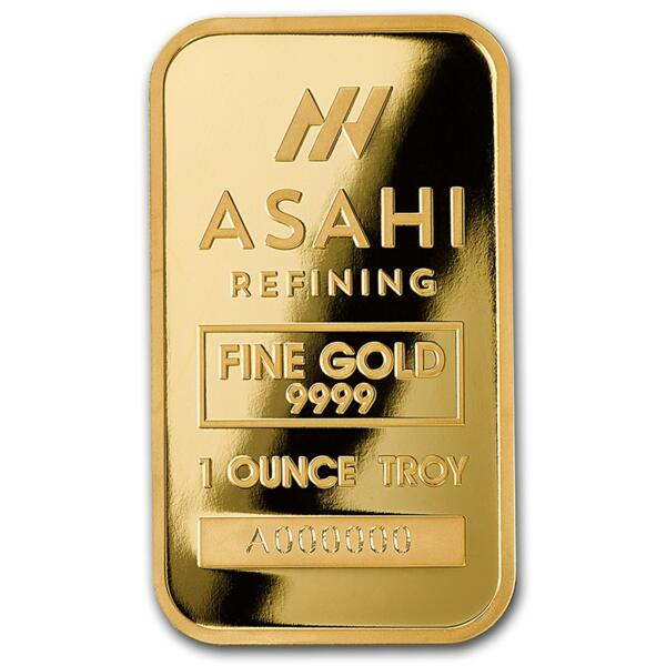 1 ounce  Gold Bar - Asahi Refining