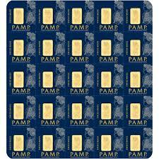 1 gram Multi-Gram Pack Gold Bar - Roll of 25 - PAMP