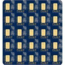 1 gram Multi-Gram Pack Gold Bar - Roll of 25 - PAMP