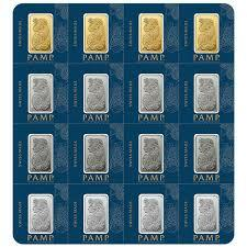 2.5 grams  Gold Bar - Roll of 16 - PAMP